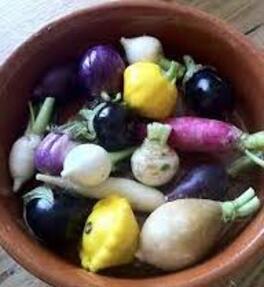 Mini-légumes à l'infusion de citronnelle