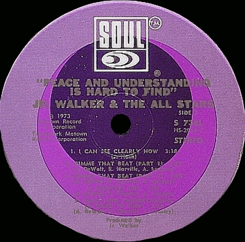 "Jr. Walker & The All Stars : Album "" Peace And Understanding Is Hard To Find "" Soul Records S-738L [ US ]"