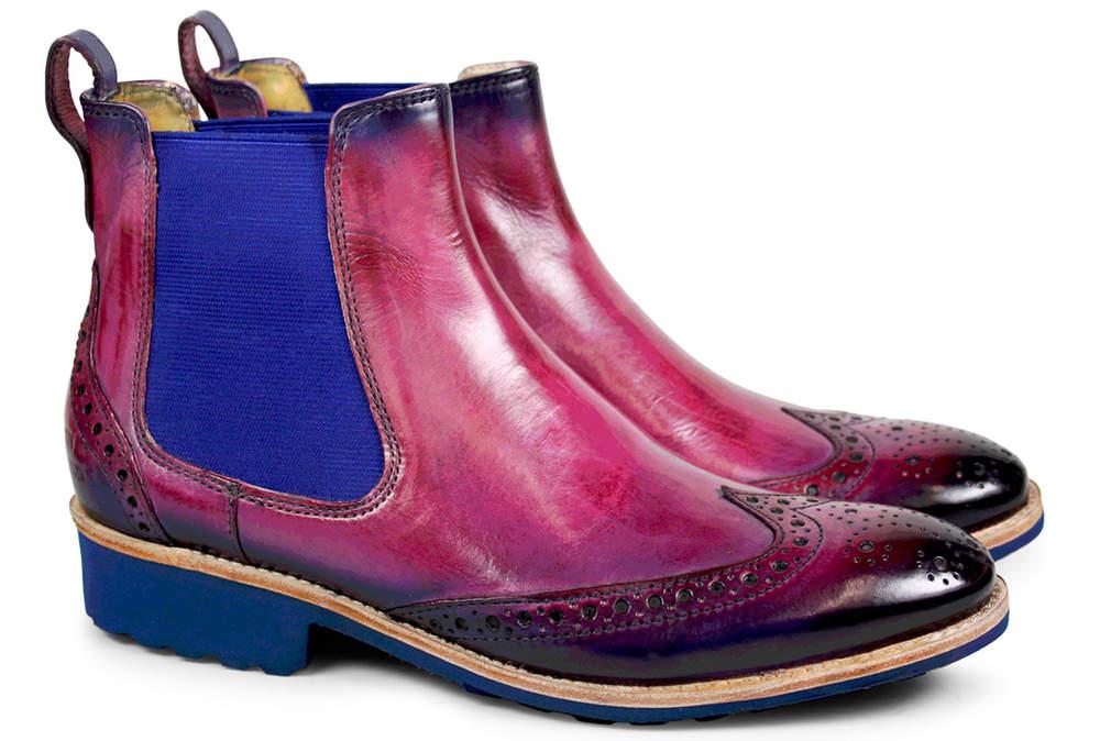 Boots en cuir perforé, élastique sur les côtés, Melvin et Hamilton, 159,90€.