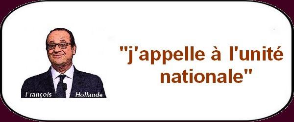 La France qui marche sur la tête demande l'unité nationale?
