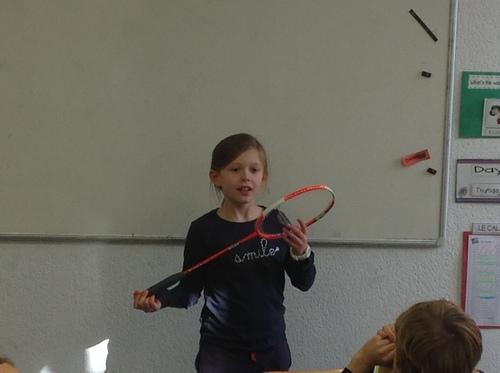Apolline et le badminton