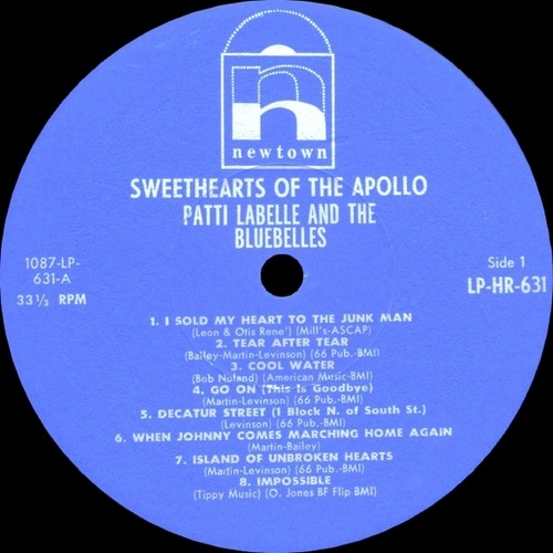 "The Bluebelles Featuring Patti La Belle : Album "" Sweethearts Of The Apollo "" Newton Records 631 [ US ]"