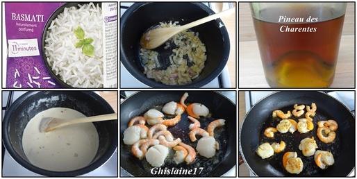 St Jacques et Crevettes à la sauce charentaise