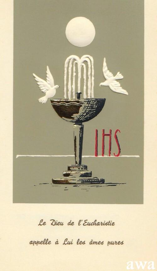 Anciennes images de Communion de 1933 à 1991