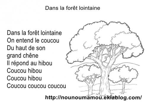 Comptine Illustrée Dans La Forêt Lointaine