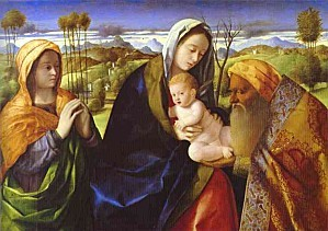 Giovanni Bellini - Infant Christ and Simeon