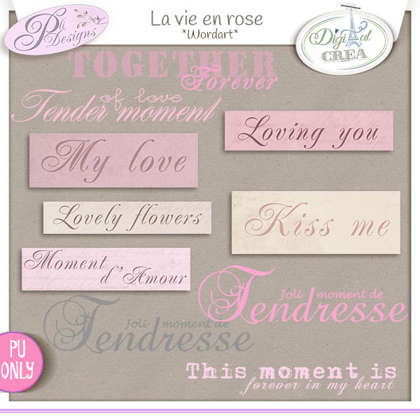 La vie en rose by Pli Designs