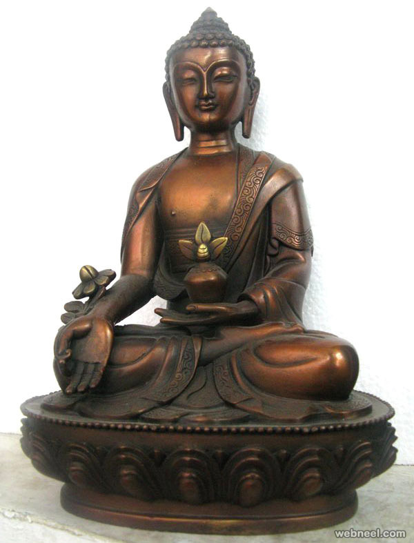 buddha bronze sculpture