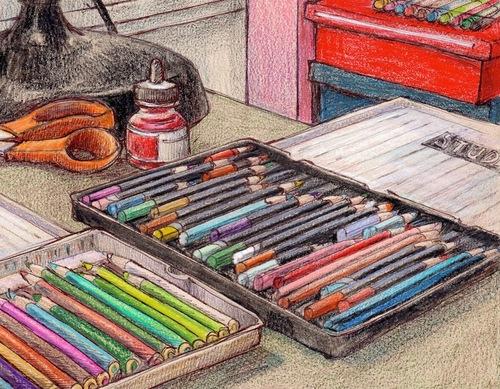 J' adore les crayons de couleur ....