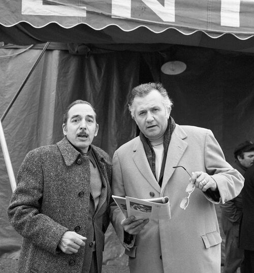 Le grand photographe Pierre J.   Dannes et Jean Richard en 1971 ( archives Pierre Dannes Jr)