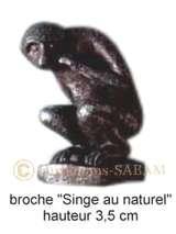 """Objet de diffusion du Patrimoine montois: épinglette """"Singe du Grand Garde"""" - Arts et sculpture: sculpteur, artisan d'art"""