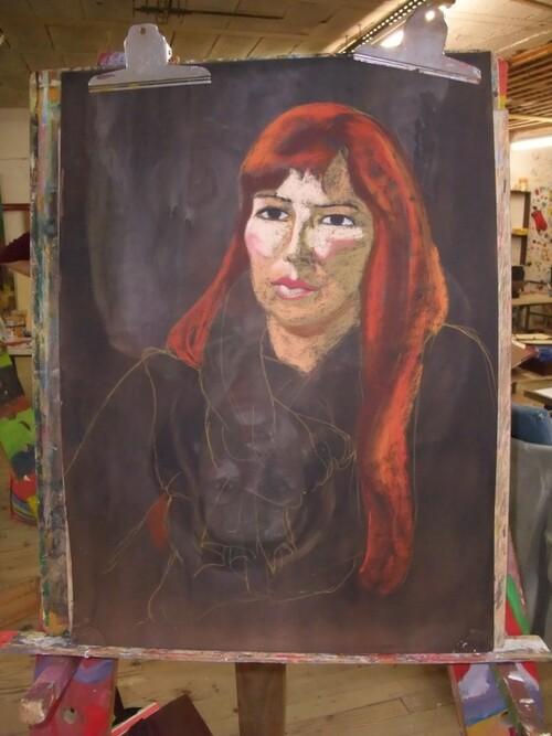 Lundi - En séance : Portrait pastels secs (1)