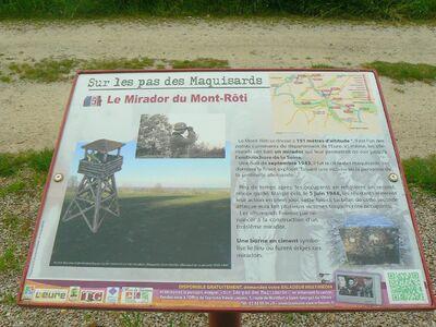 Les chemins de l'Aubière et du Mont-Roti.