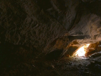 Dans la grotte de Castelette
