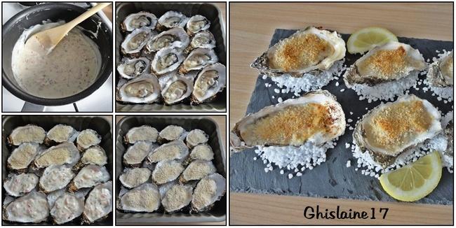 Huîtres chaudes à la charentaise