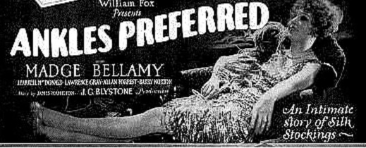 ANKLES PREFERRED 1927 POSTER