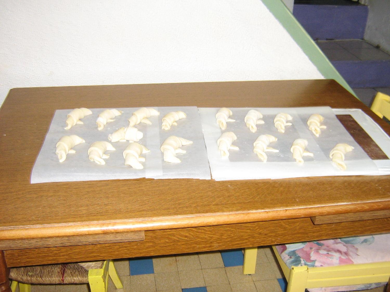 Etape de fabrication de croissant !
