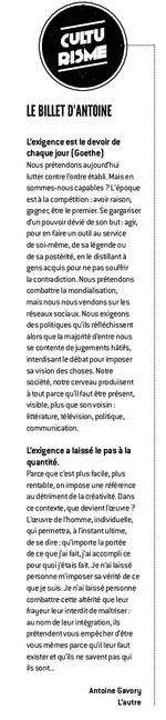 LE BILLET D'ANTOINE / KOIKISPASS N°126 / MAI 2016