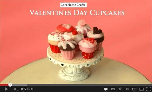 Tutos St Valentin Valentine's Cupcakes Hummingbird Miniature