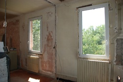 Les fenêtres du salon/cuisine