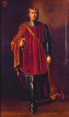 Jacques II d'Aragon, portrait par Manuel Aguirre y Monsalbe, vers 1851-1854.