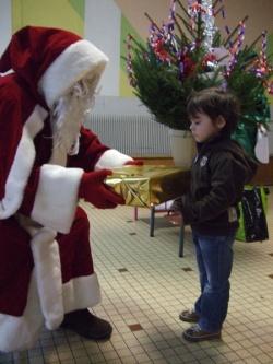 Le Père Noël est venu à l'école