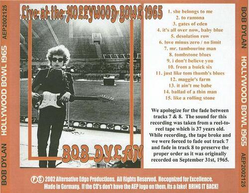 Dylan acoustique et électrique (1965)
