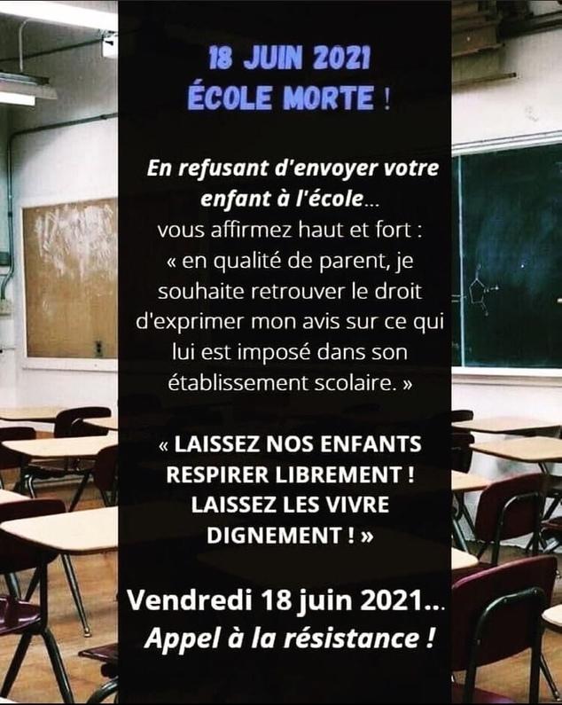 Ecole, conscience et résistance !