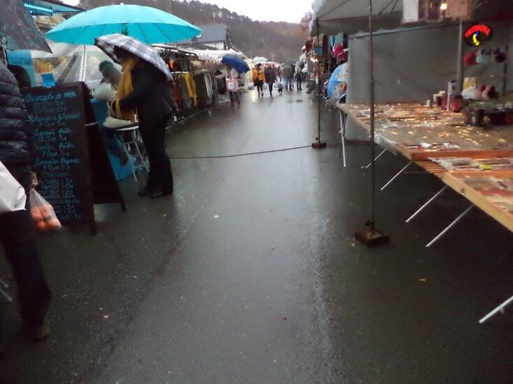 Saint Martin sous le vent et la pluie...