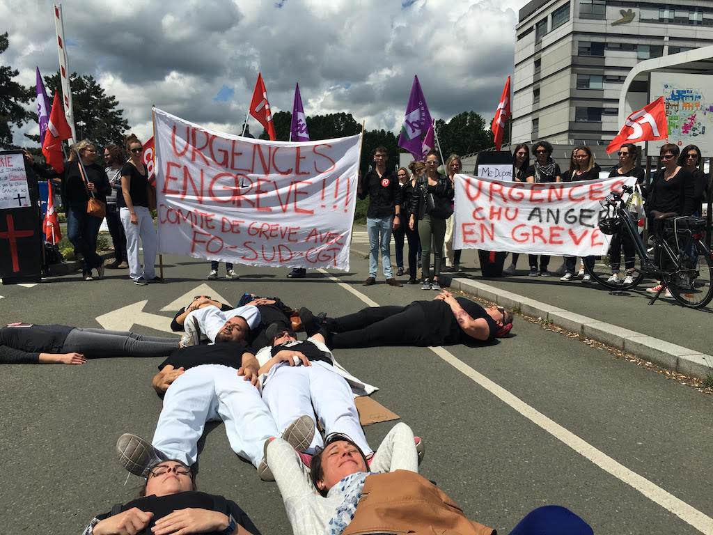 Au CHU d'Angers 80% des urgentistes sont en grève depuis début mai.