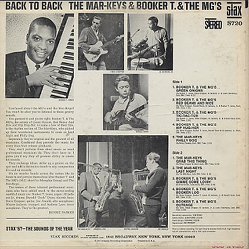 "1967 : Album "" Back To Back "" Stax Records S 720 [ US ]"