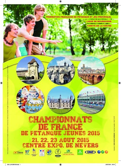 CHAMPIONNAT DE FRANCE - TRIPLETTES JEUNES - 2015 - NEVERS