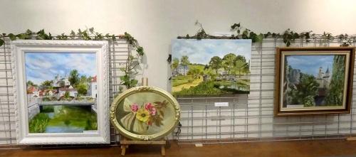 L'exposition des peintres de l'atelier peinture à l'huile de Sainte Colombe sur Seine...