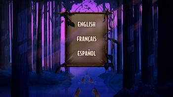 Menu des langues 1