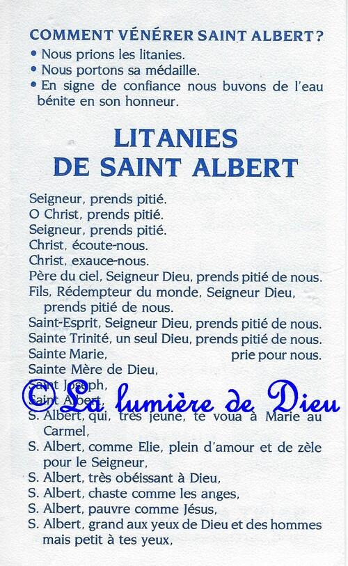 Saint Albert de Sicile pour la guérison des maladies