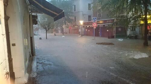 Inondations à Belley