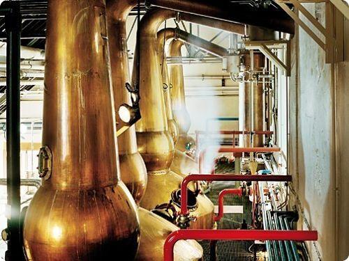 Intérieur d'une distillerie