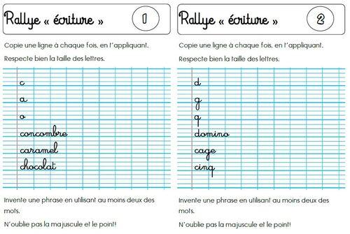 "Rallye ""écriture"""