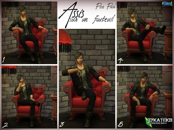 Assis sur un fauteuil