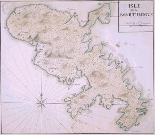 Carte Martinique : auteur inconnu