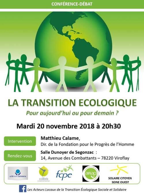Conférence /débat La transition pour aujourd'hui ou pour demain ?