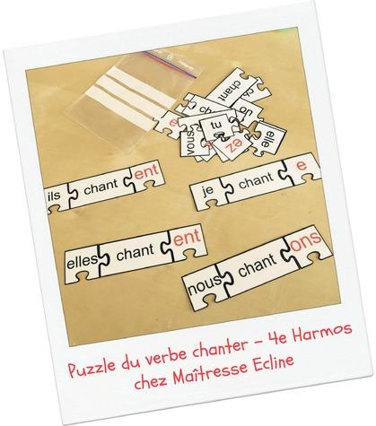Puzzle du verbe chanter