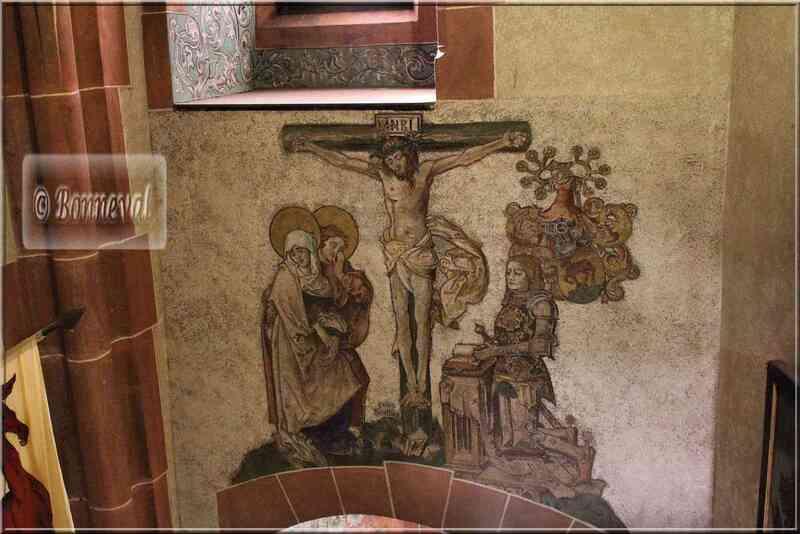 Haut Koenigsbourg Chapelle peinture au-dessus autel