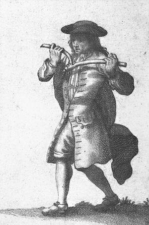 Sourcier - gravure du 18ème siècle