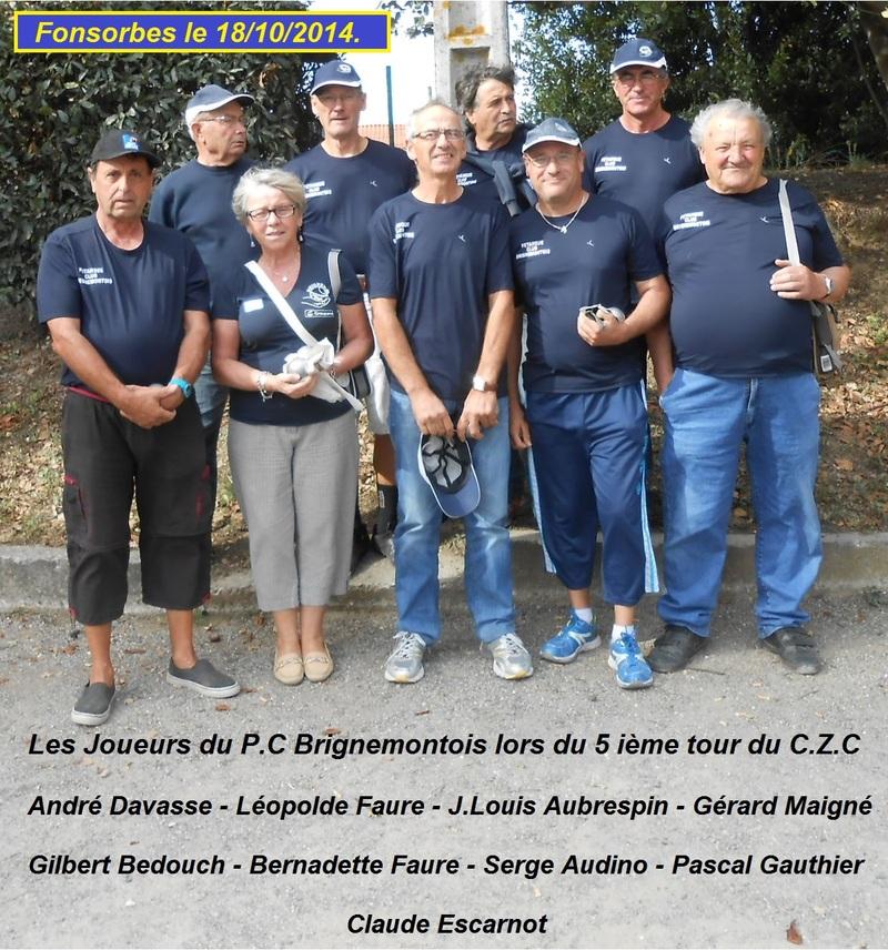 5 ième ET DERNIER TOUR DU CHAMPIONNAT DE ZONE DES CLUBS -DIVISION 2-