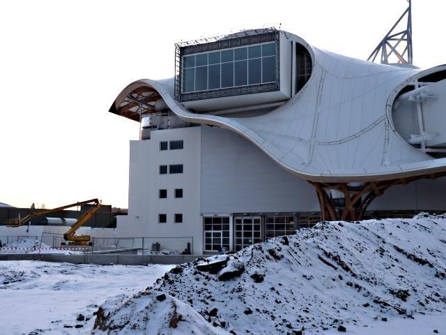 Le Centre Pompidou Metz chantier janvier 7 10 01 2010