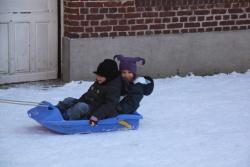 La neige et la luge...