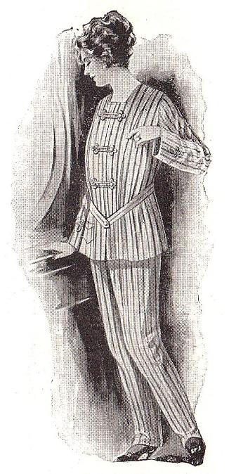 Et la guerre favorisa le pyjamla pour femmes ...