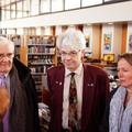 A la médiathèque : Dominique Gambier; Andreas Baüerle et Birte Kruse-Gobrecht