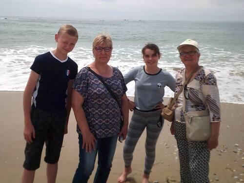 -ballade sur la plage en bretagne le 8.9.10 juin